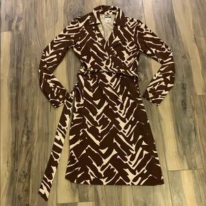 DVF Brown Wrap Dress